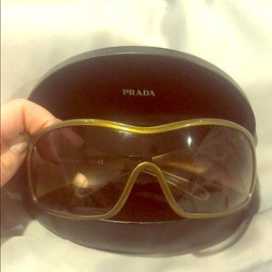 Prada bronze/gold sunglasses
